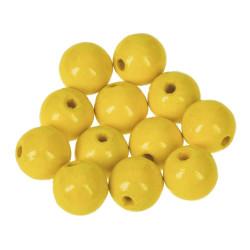 Holzkugel, 14mm, gelb