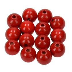 Holzkugel, 14mm, rot