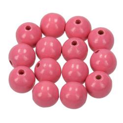 Holzkugel, 14mm, rosa