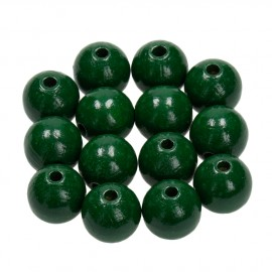Holzkugel, 14mm, dunkelgrün