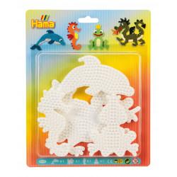 Stiftplattemnmix, Delfin, Drache, Seepferdchen, kleiner Frosch