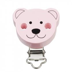 Kettenclip, Bär, rosa