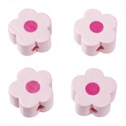 Motivperle, Blümchen, 4Stk., rosa