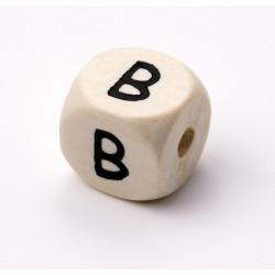 Buchstabenwürfel, Holz, 10mm, B