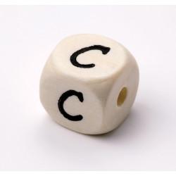 Buchstabenwürfel, Holz, 10mm, C