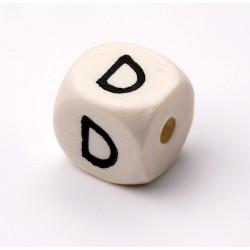 Buchstabenwürfel, Holz, 10mm, D