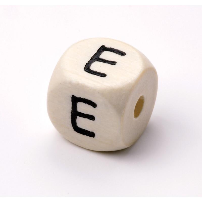 Buchstabenwürfel, Holz, 10mm, E