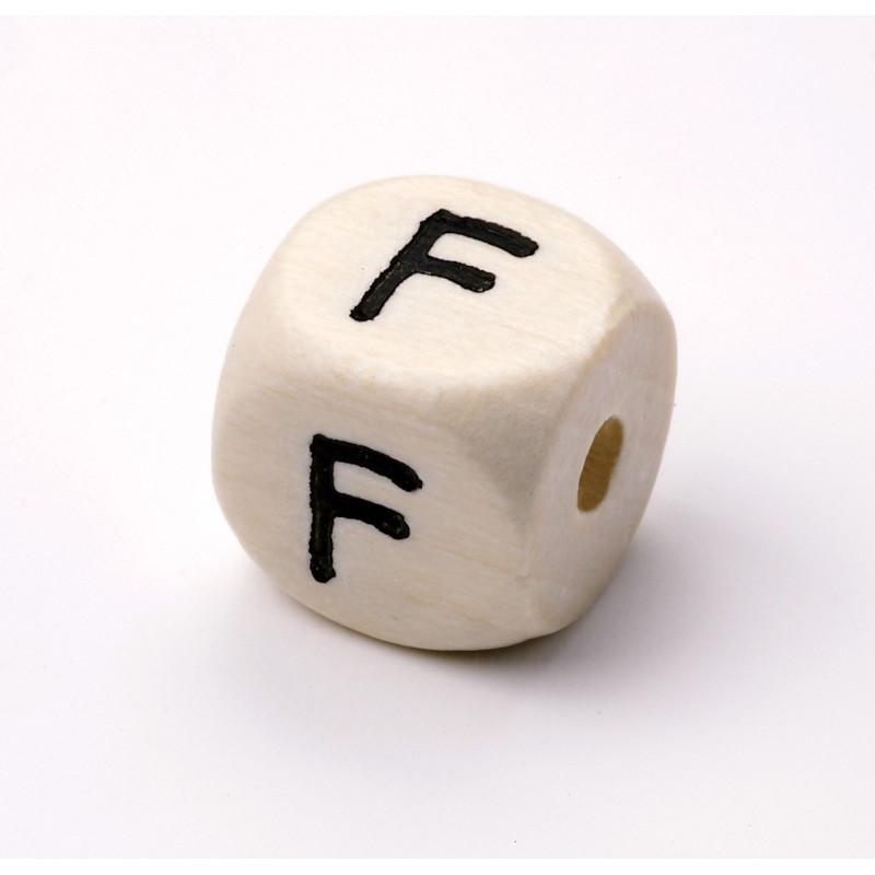 Buchstabenwürfel, Holz, 10mm, F