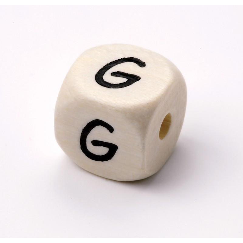 Buchstabenwürfel, Holz, 10mm, G