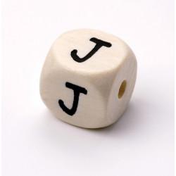 Buchstabenwürfel, Holz, 10mm, J