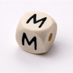 Buchstabenwürfel, Holz, 10mm, M