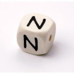 Buchstabenwürfel, Holz, 10mm, N