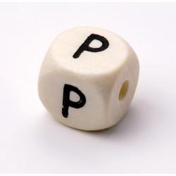 Buchstabenwürfel, Holz, 10mm, P