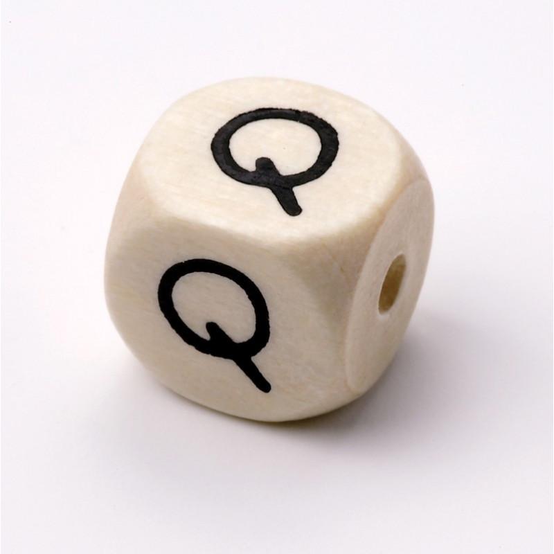 Buchstabenwürfel, Holz, 10mm, Q