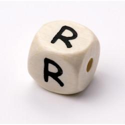 Buchstabenwürfel, Holz, 10mm, R