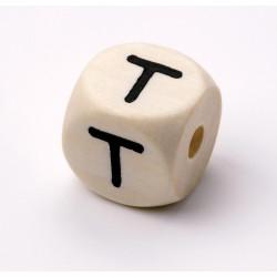 Buchstabenwürfel, Holz, 10mm, T
