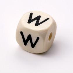 Buchstabenwürfel, Holz, 10mm, W