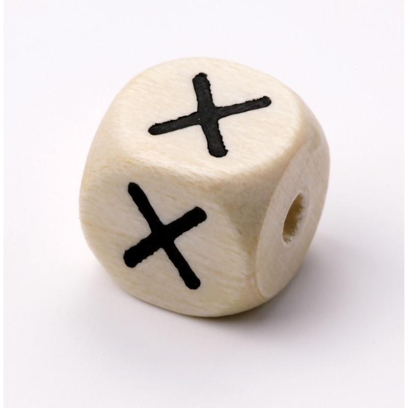 Buchstabenwürfel, Holz, 10mm, X