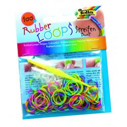 Rubber Loops, Streifen bunt, 100 Stück