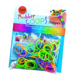 Rubber Loops, Noppen neon, 100 Stück