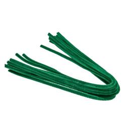 Pfeifenputzer, grün, 8mm x 50cm, 10Stk