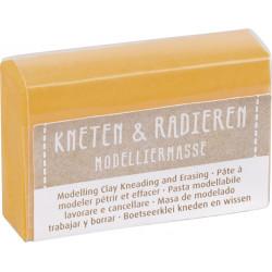 Kneten & Radieren, Modelliermasse, gelb