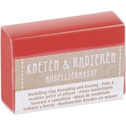 Kneten & Radieren, Modelliermasse, rot