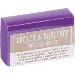 Kneten & Radieren, Modelliermasse, violett