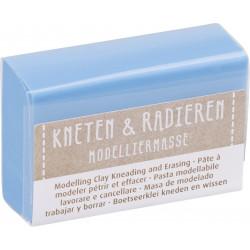 Kneten & Radieren, Modelliermasse, hellblau