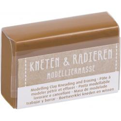 Kneten & Radieren, Modelliermasse, braun