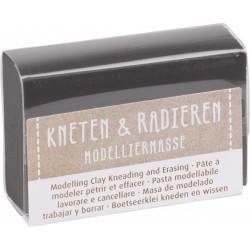 Kneten & Radieren, Modelliermasse, schwarz