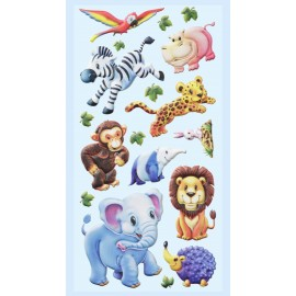 Softy-Sticker Zootiere-Afrika