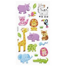 Softy-Sticker Tiere IV