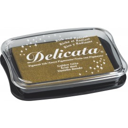Stempelkissen Delicata Metallic, golden glitz