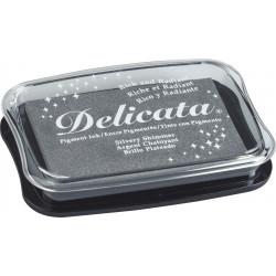 Stempelkissen Delicata Metallic, silvery shimmer