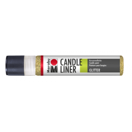 Candle Liner, 25ml, glitter-gold