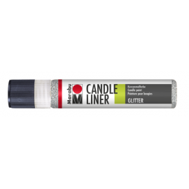 Candle Liner, 25ml, glitter-silber