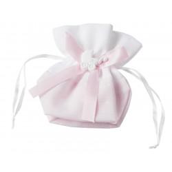 Baby-Stoffbeutel, 12,5x12cm, rosa, 3 Stk.