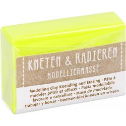 Kneten & Radieren, Modelliermasse, neongelb