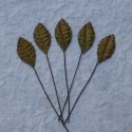 Blätter, braun, 25mm, 100Stk.