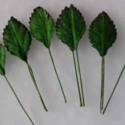 Rosenblätter, grün, 25mm, 100Stk.