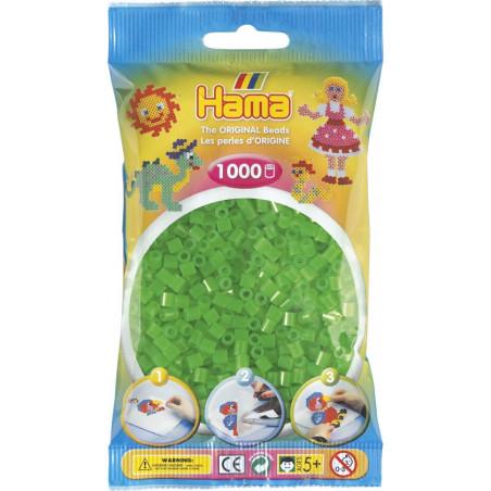 Bügelperlen neon-grün, 1000Stk.