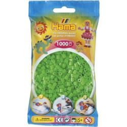 Bügelperlen fluor-grün, 1000Stk.