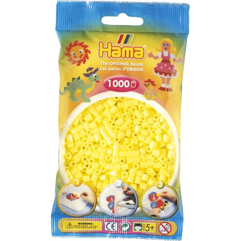 Bügelperlen pastell-gelb, 1000Stk.