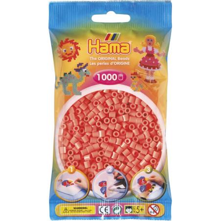 Bügelperlen pastell-rot, 1000Stk.