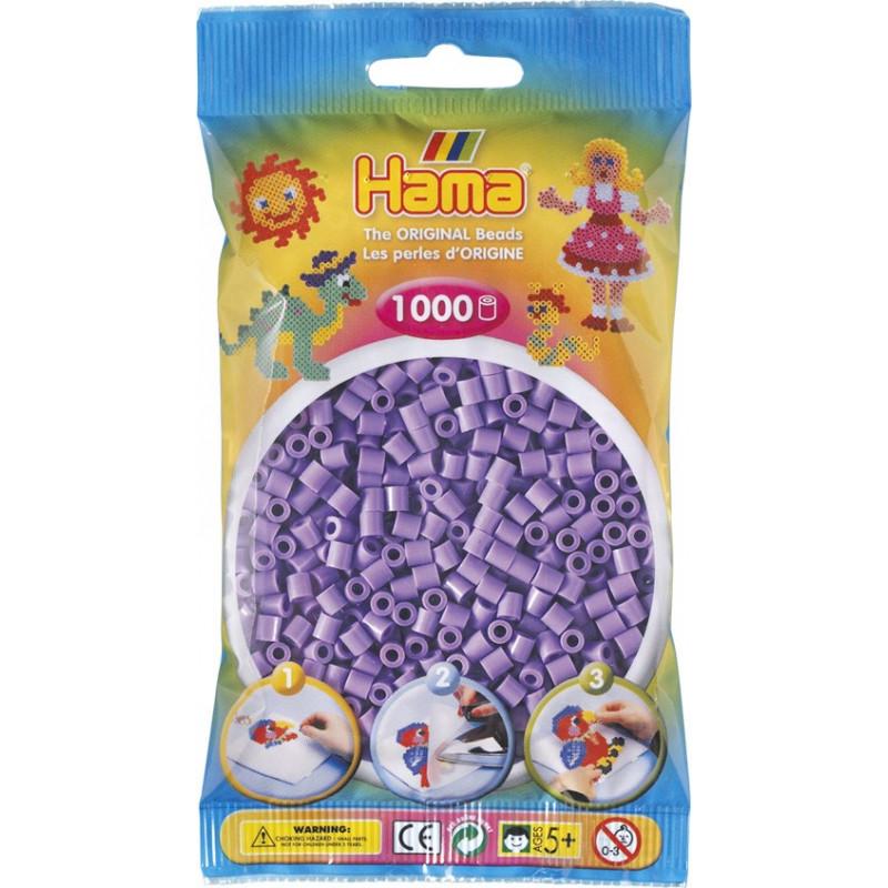 Bügelperlen pastell-lila, 1000Stk.