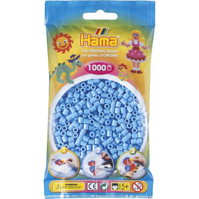 Bügelperlen pastell-blau, 1000Stk.