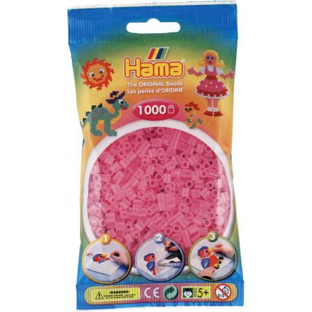 Bügelperlen transparent-pink, 1000Stk.