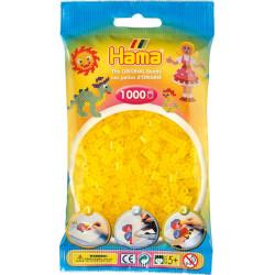 Bügelperlen transparent-gelb, 1000Stk.