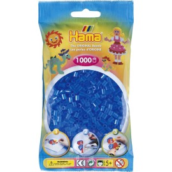 Bügelperlen transparent-blau, 1000Stk.